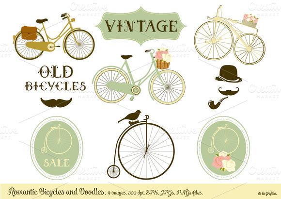Romantic Bicycles Doodles