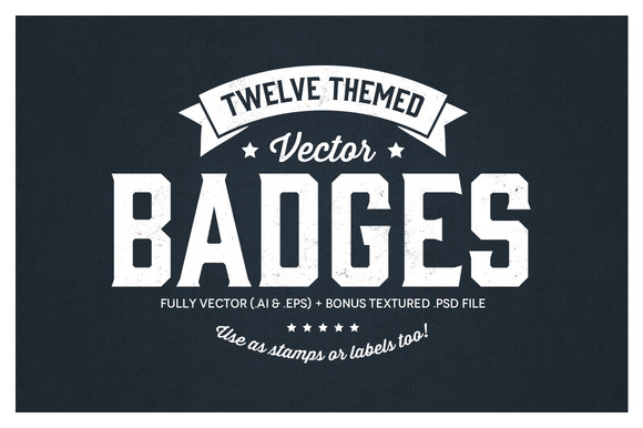 12 Themed Badges