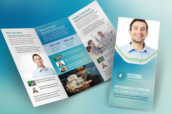 Clean Business Trifold Brochure