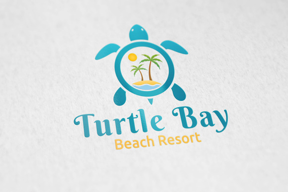 Turtle Bay Logo Template