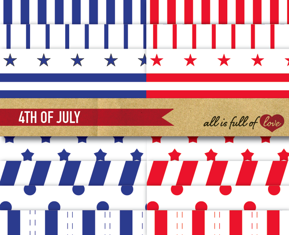 4th Of July Background Patterns