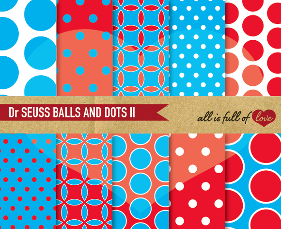Dr Seuss Digital Paper Pack