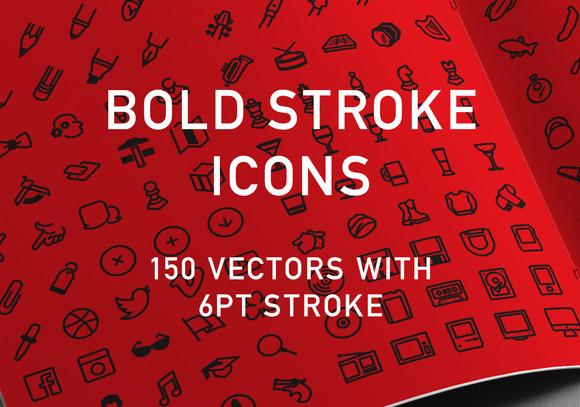 150 Bold Stroke Icons