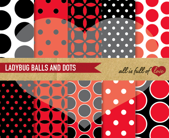 Ladybug Digital Backgrounds