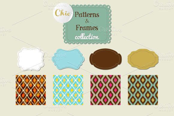 Chic Patterns And Frames Collection