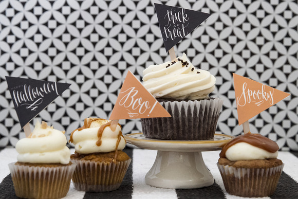 Halloween Cupcake Flags