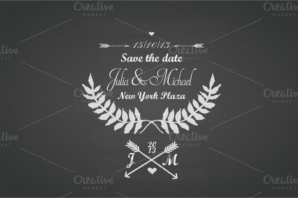 Wedding Chalkboard Template
