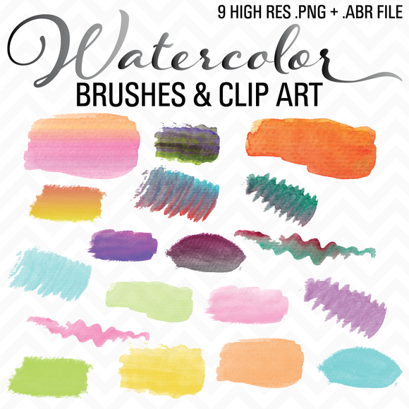 Watercolor Brushes Clip Art ABR