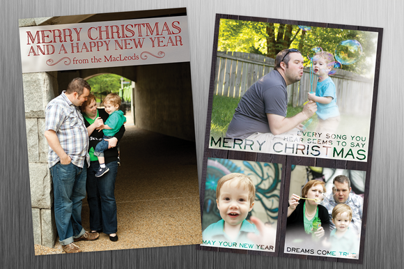 Frosted 5x7 Xmas Card Template