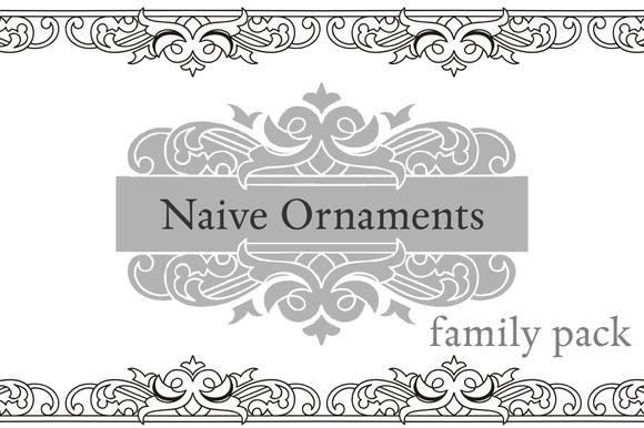 Naive Ornaments Family Pack