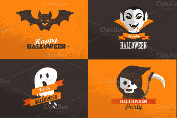 Halloween Set Of Cards