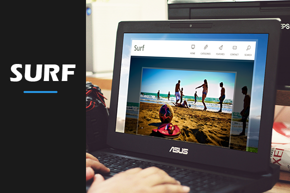 Surf Creative Blog Theme