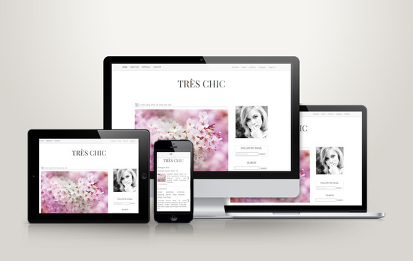TrЁЁs Chic Premade Blogger Template