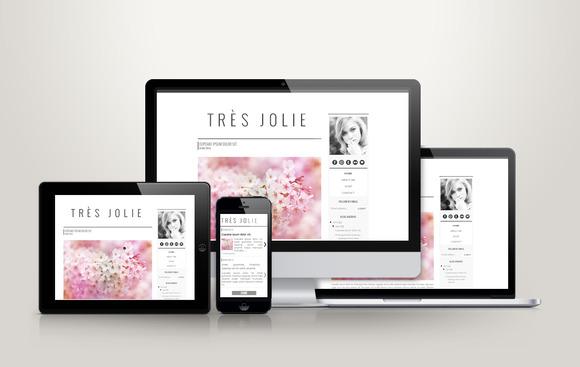 TrЁЁs Jolie Premade Blogger Template