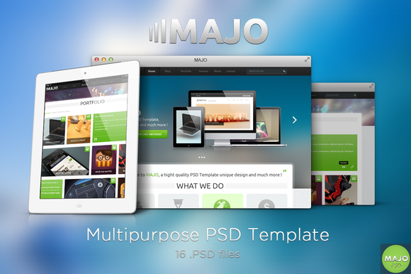 MAJO Multipurpose PSD Template