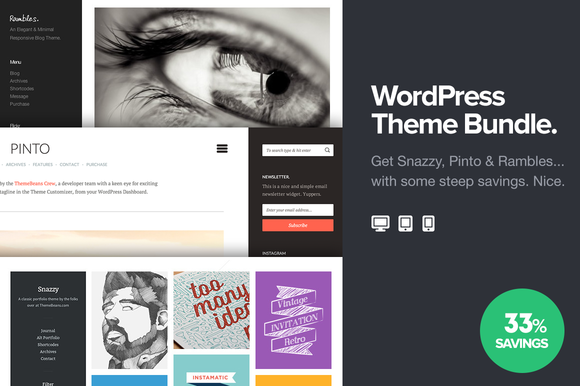 Bean WordPress Theme Bundle