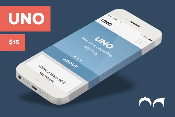 Uno Flat Responsive HTML Theme