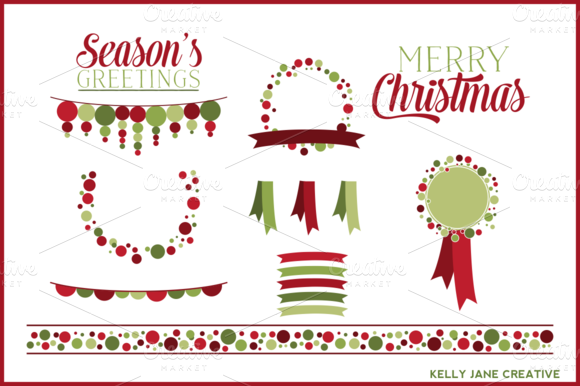 Christmas Polka Dot Clipart Vector