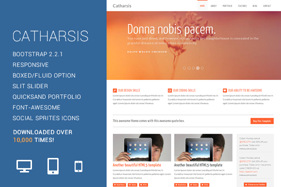 Catharsis Responsive HTML Template