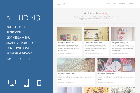 Alluring Blogging Template
