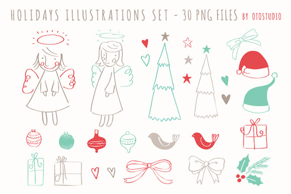 Christmas Clip Art Set Vector
