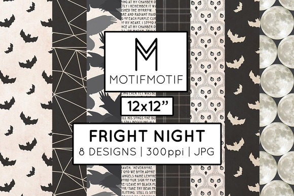 Fright Night Digital Papers