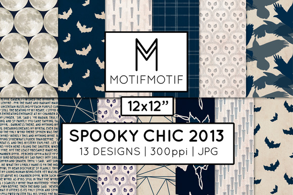 Spooky Chic Paper Pack In Midnight