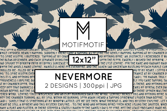 Nevermore Digital Papers In Midnight