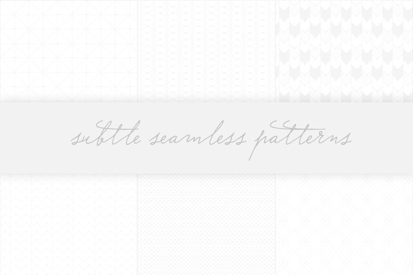Subtle Seamless Patterns