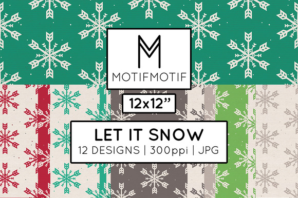 Let It Snow Digital Paper Pack