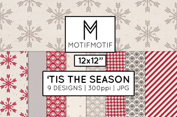 Tis The Season Digital Paper Pack