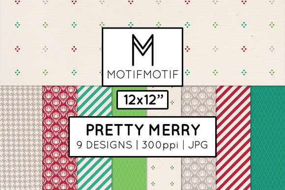 Pretty Merry Digital Paper Pack