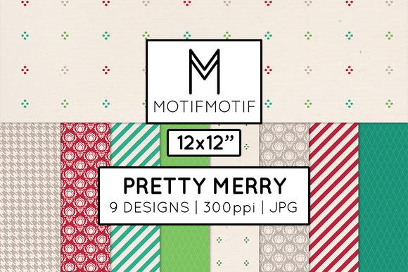 Pretty Merry Digital Paper Pack
