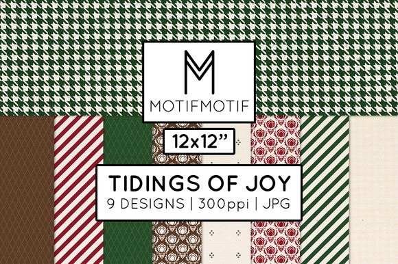 Tidings Of Joy Digital Papers