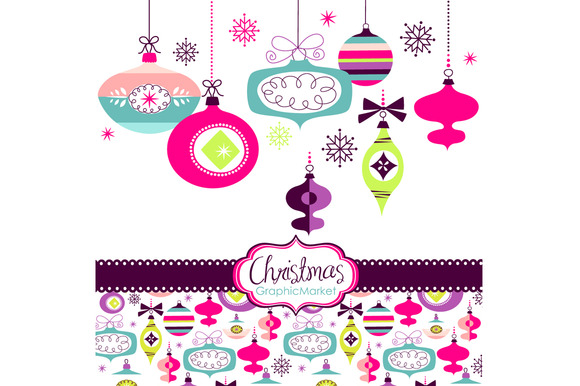 Christmas Clip Art Ornaments Balls