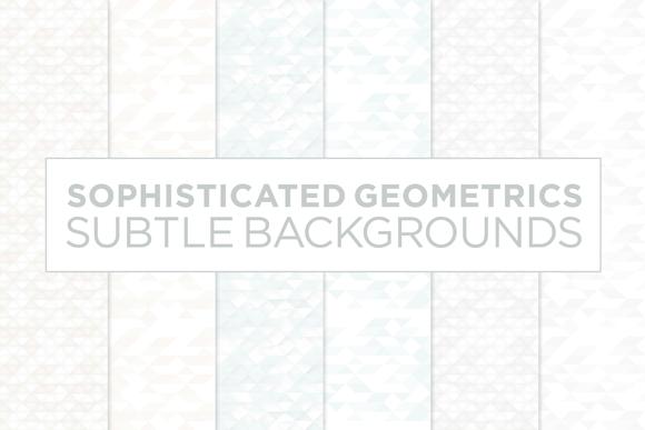 6 Subtle Geometric Backgrounds