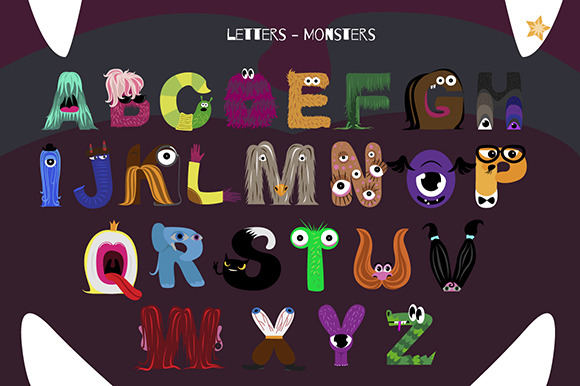 Alphabet With Monsters
