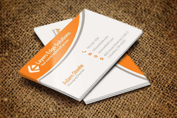 Simple Business Cards In 2 Colors