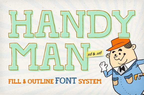 Handyman Font Outline