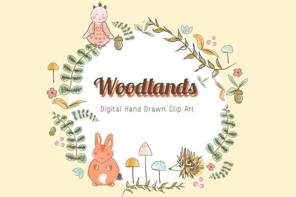 Hand Drawn Clip Art Woodland
