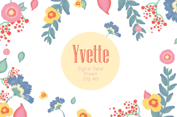 Hand Drawn Flowers Yvette