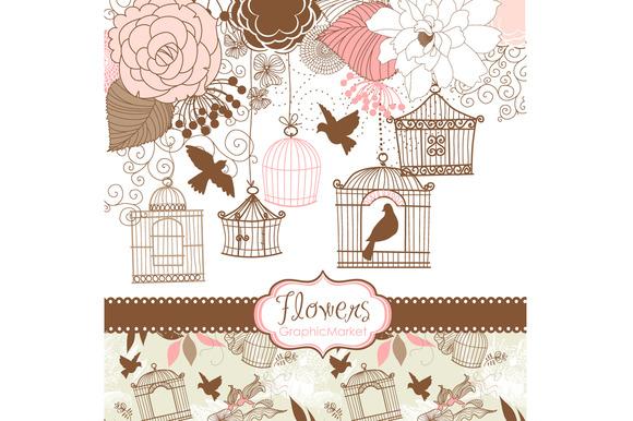 14 Flower Designs Birdcages Birds