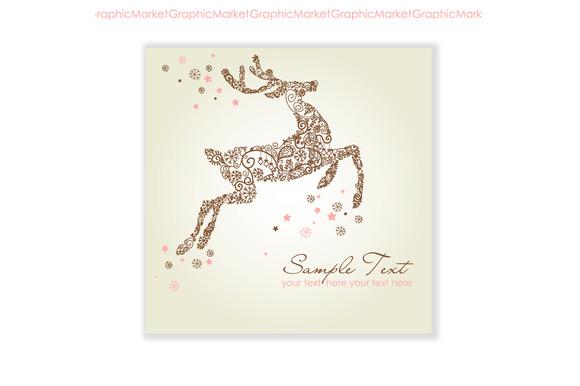 Christmas Deer Reindeer Snowflakes