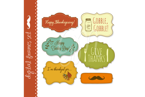 18 Thanksgiving Frames Backgrounds