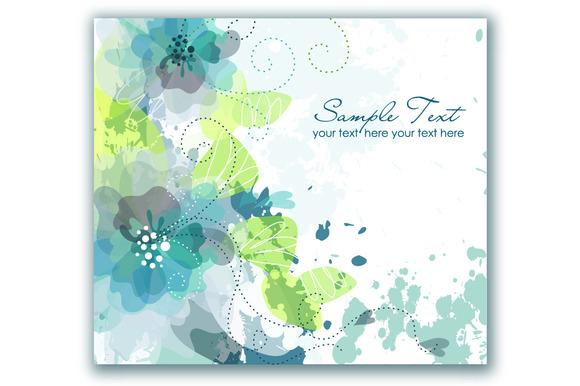 Wedding Hand Drawn Floral Card