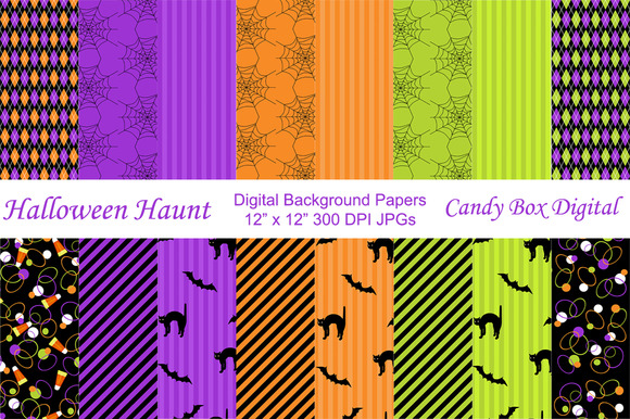 Halloween Haunt Background Papers