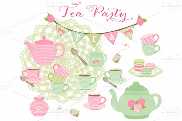 Tea Party Macarons