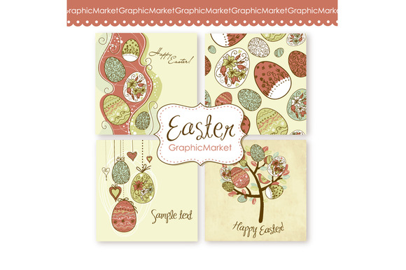 Easter Vintage Card Templates