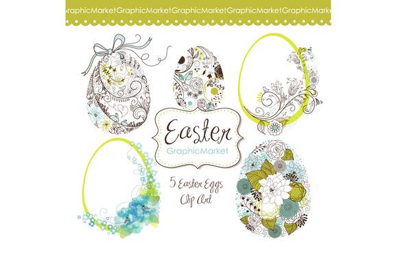 Easter Eggs Clip Art Easter Clipart