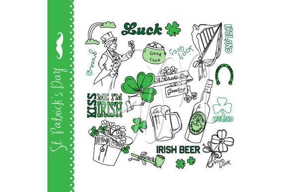 St Patricks Day Doodles Irish Green